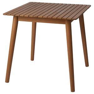 HATTHOLMEN                                Tisch/außen, Eukalyptus, Eiche hell, 75x75x74 cm