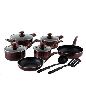 Steinbach Koch- und Brat-Set Ratero | 8-teilig | Induktionsgeeignet | Spülmaschinenfest | mit Beschichtung | Kasserollen + Kochtöpfe + Bratpfannen + 2 praktische Küchenhelfer | mit Glasdeckel mit