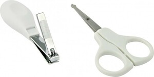 H+H BS 869 Nagelschere + Nagelclip zur Babypflege