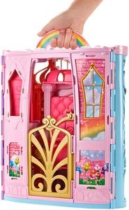 Barbie Dreamtopia Regenbogen-Königreich Schloss und Puppe. FRB15