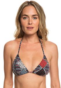 Roxy Romantic Senses - Tiki-Tri - Bikini Oberteil für Damen - Grau