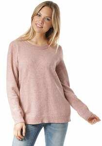 Vila Viril L/S Open Back - Strickpullover für Damen - Pink