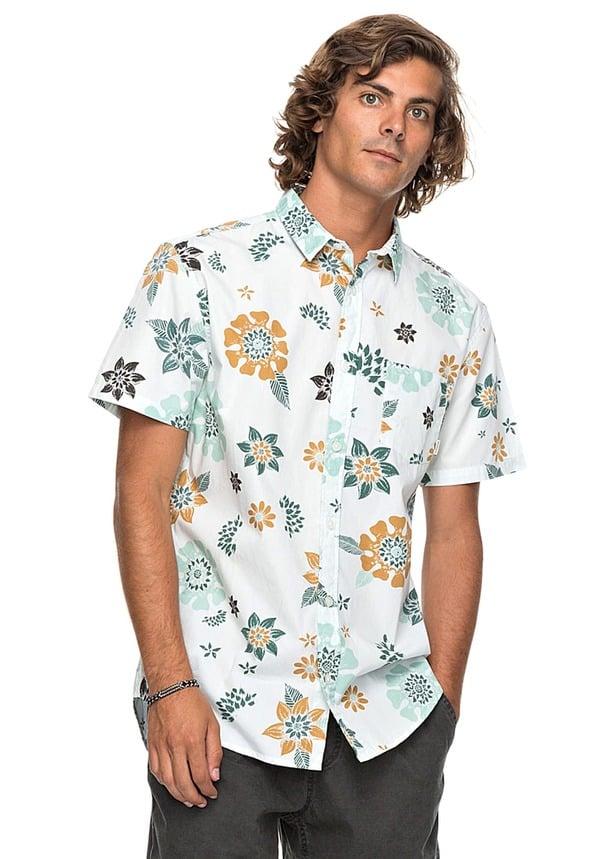 Quiksilver Sunset Flora - Hemd für Herren - Weiß