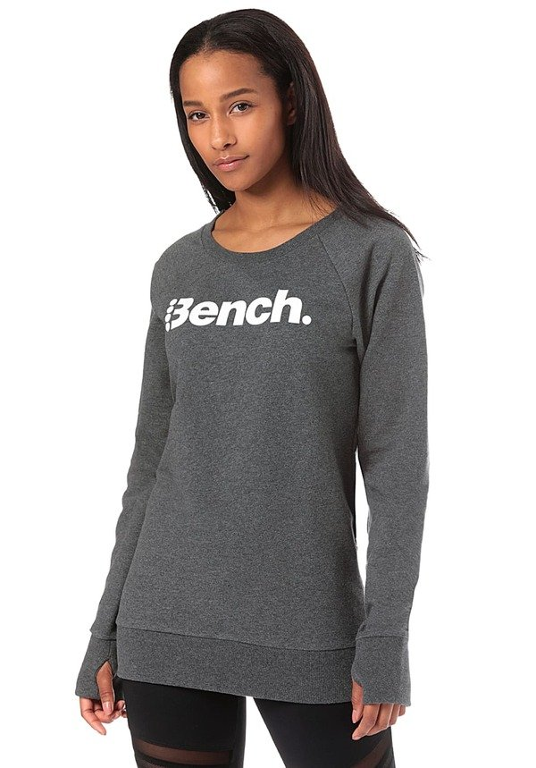 Bench. Heritage Long Logo Crew Neck - Sweatshirt für Damen - Schwarz
