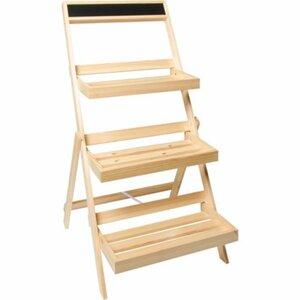 Etagere Holz mit Kreidetafel 110 cm x 54 cm x 50 cm