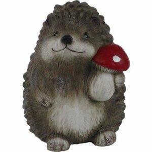 Deko-Figur Igel mit rotem Pilz 19 cm