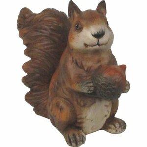 Deko-Figur Eichhörnchen mit Tannenzapfen 18 cm