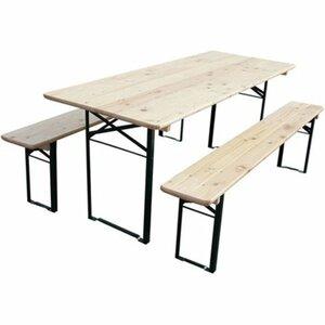 Bierzelt-Garnitur mit 70 cm breitem Tisch