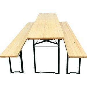 Bierzelt-Garnitur mit 50 cm breitem Tisch