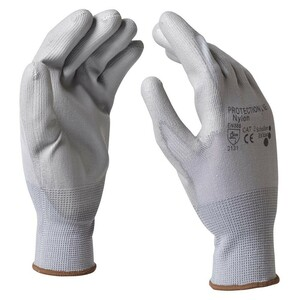 "Handschuhe Gr. M 8"" Nylon grau"
