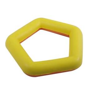 Hundespielzeug Fünfeck farblich sortiert 16cm Naturgummi schwimmend Spielzeug
