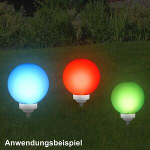 LED Leuchtkugel Ø20/25/30cm Solar 4LED Farbwechsler Fernbedienung Bodenspieß