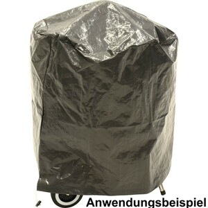 Abdeckhaube Kugelgrill rund Ø65x70cm grau Grill Abdeckung Schutzhülle Grillhaube