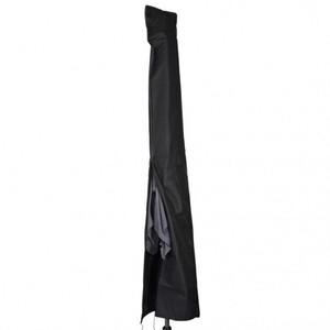Sonnenschirm Schutzhülle Ø4m schwarz Polyester Stoff Abdeckung Gartenschirm