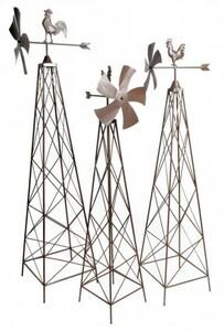 Windrad 3 Stück Rankhilfe aus Metall