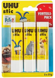UHU Kleberartikel - Stick Pets Design, 3x21g