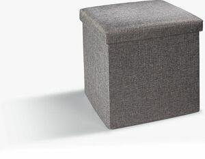 Dekor Sitz - und Aufbewarungshocker - anthrazit