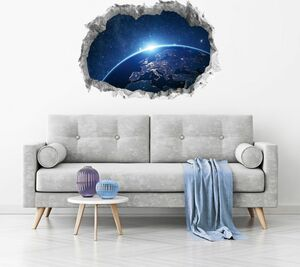 Wandtattoo 3D fluoreszierend Galaxy 70x100cm mehrfarbig
