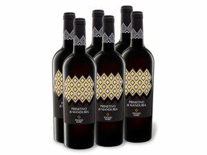 6 x 0,75-l-Flasche Poggio Maru Primtivo di Manduria DOP trocken, Rotwein