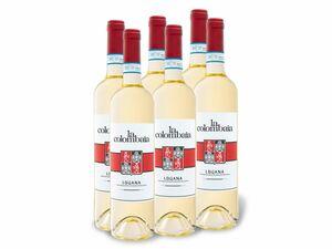 6 x 0,75-l-Flasche La Colombaia Lugana DOP trocken, Weißwein