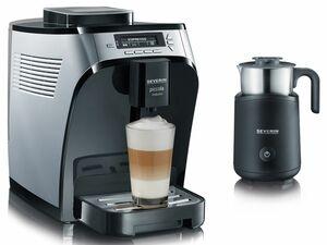 SEVERIN Kaffeevollautomat Piccola Induzio + Induktions-Milchaufschäumer SM9495