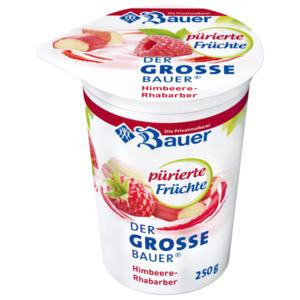 Bauer Fruchtjoghurt püriert Himbeere-Rhabarber 250g
