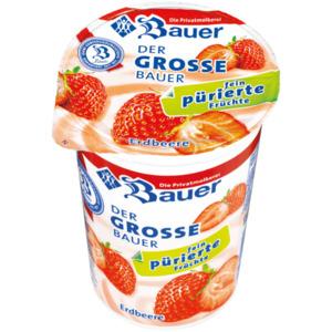 Bauer Fruchtjoghurt ohne Stücke Erdbeere 250g