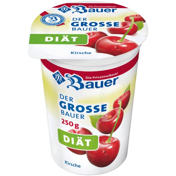 Bauer Fruchtjoghurt weniger Zucker Pfirsich/Maracuja 250g