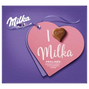 Milka Pralinés Erdbeercrème 110g