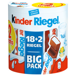 Kinder Riegel Big Pack 18+2 Riegel