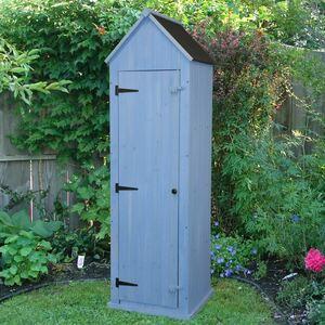 Gartenschrank aus Holz 214cm Blau