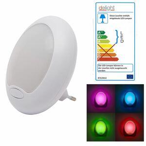 Delight LED-Farbwechsel-Nachtlicht Premium 8,5x10,5x7cm