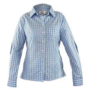 Edelnice Damen Trachtenhemd hellblau kariert