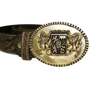 Edelnice Antiker Trachtengürtel mit Bayern-Motiv für Damen