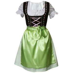 Edelnice Mini Dirndl 3-teilig grün pink für Damen