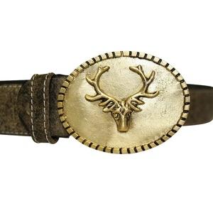 Edelnice Antiker Trachtengürtel mit Hirsch-Motiv für Herren