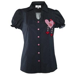 Edelnice Trachten Bluse gepunktet für Damen