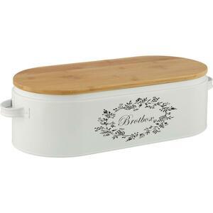 Brotbox Lore Weiß Echtholz