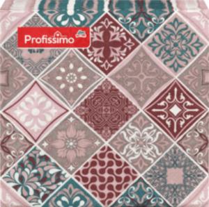 Profissimo Profissimo Serviette Mosaik/Muster, 33x33 cm
