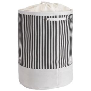 Wäschekorb Tove (Streifen, dunkelgrau)