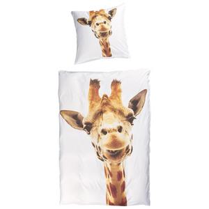 Microfaser-Bettwäsche Giraffe (135x200, Fotodruck)