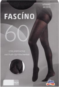 FASCÍNO Strumpfhose Push-Up, 60 den, schwarz, Gr. 50/52