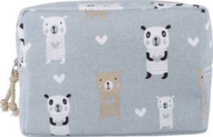 Dekorieren & Einrichten Kulturtasche mit Bären grau