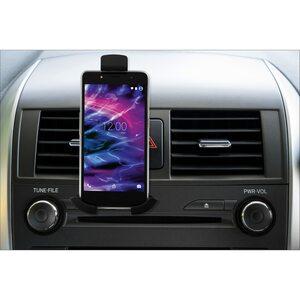 MEDION LIFE® E74085 Kfz-Smartphonehalterung, für Luftungsschlitze, 360° drehbar, einfache und schnelle Installation, passend für Smartphones mit einer Breite von 55 bis 80 mm