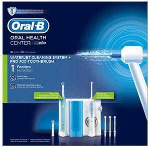 Oral-B WaterJet Munddusche + PRO 700 Zahn-/Mundpflege-Kombination weiß/hellblau