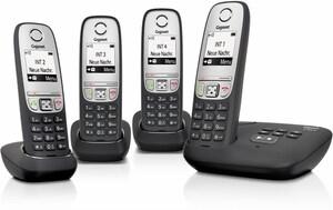 Gigaset A415 A Quattro Schnurlostelefon mit Anrufbeantworter schwarz