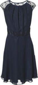 Kinder Chiffon-Kleid dunkelblau Gr. 176 Mädchen Kinder