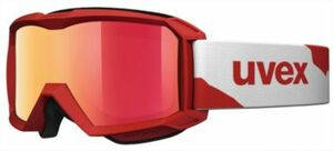 Skibrille flizz LM red mat dl/mir red rot
