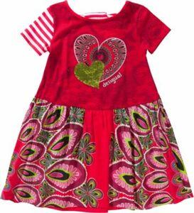 Kinder Jerseykleid mit Wendepailletten, Herz rot Gr. 146/152 Mädchen Kinder