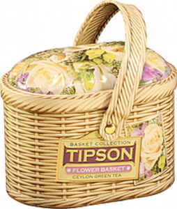 "Grüner Ceylon Tee ""Tipson Basket Flower Basket"", aromatisier..."